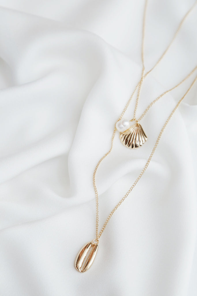 Simla Seashell Pearl Necklace