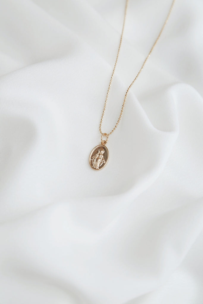 Virgin Mary Necklace (two faced pendant)