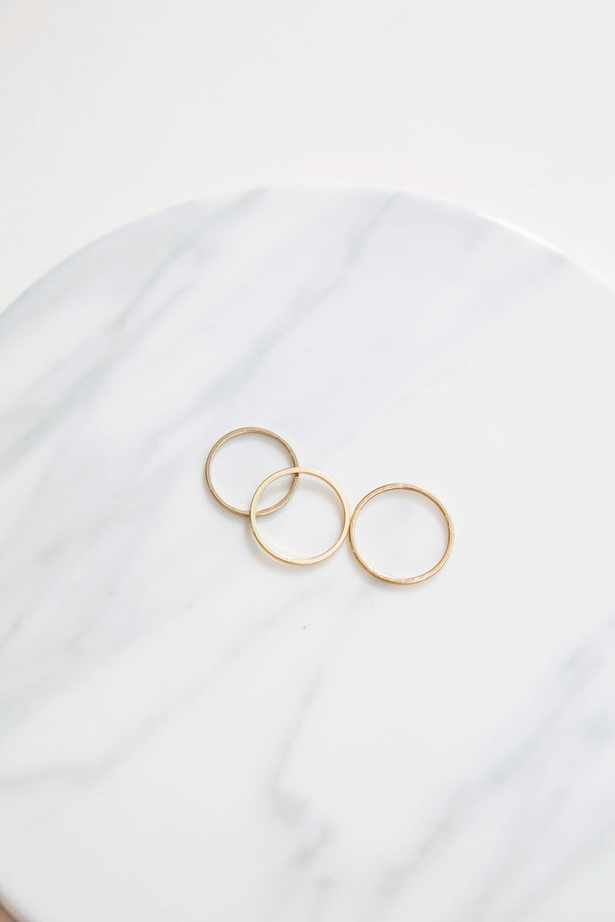 Dainty Rings (set of 3), minimal jewelry. These skinny stacking rings comes in a set of 3. Every babe would need a set of this, a classic jewellery for an easy and dainty look. Wear it regularly or stylishly at the top of your finger. Let's begin the stacking game! Have fun!