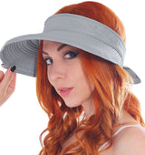 Women Cotton UV Sun Protection 2 in 1 Removable Visor Hat