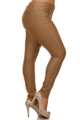 Plus Size Stretchy Jeggings w/ Rhinestones