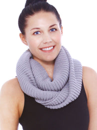Winter Solid Color Circle Infinity Scarf