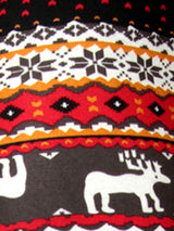 Reindeer & Snowflake Winter Leggings