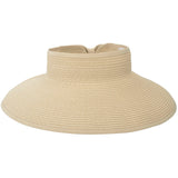 Women Roll Up Foldable Wide Brim Sun Visor Straw Hat