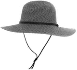 Women's UPF 50+ Wide Brim Braided Straw Sun Hat