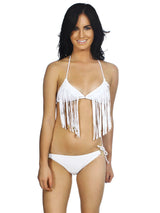 Women's Padded Summertime Sexy Fringe 2 Pc Bikini Set