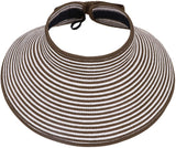 Women Sun Visor Roll Up Foldable Wide Brim Sun Visor Straw Hat