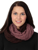Girl's Knit Dual-Toned Infinity Scarf