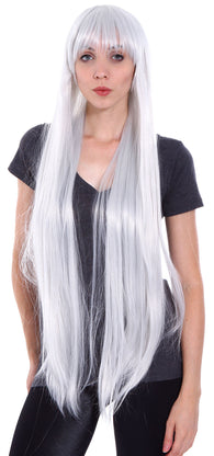 Women's Full Straight Long Cosplay Costume Party Wig with Free Wig Cap
