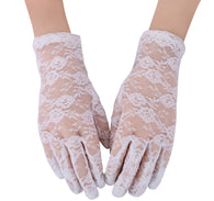 Sexy Short Floral Laced Gloves