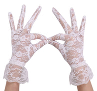 Floral Lacey Short Gloves
