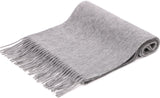 100% Cashmere Scarf w/ Gift Box, Charcoal Grey