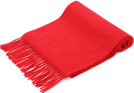 100% Cashmere Scarf w/ Gift Box, Red