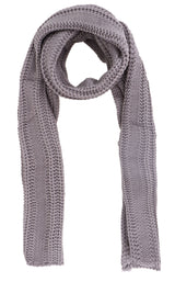 Men Cable Stripe Knit Winter Scarf