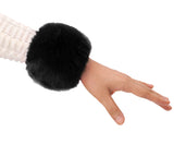 Women's Winter Faux Fur Short Wrist Cuff Warmers