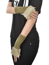Faux Knitted Fingerless Gloves