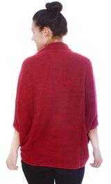 Women's Soft 3/4 Sleeved Crochet Wrap