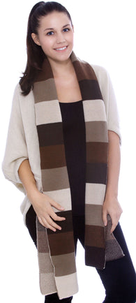 Multi-Color Scarf w/ Striped Flare