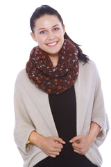 Multicolored Infinity Scarf w/ Detailed Knit Pattern