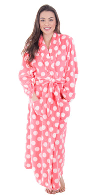 Women's Winter Warm Fleece Plush Kimono Bathrobe with Pockets