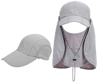 Men/Women UPF 50 Fishing Sun Hat with Removable Neck Flap