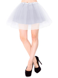 Women's Classic  4 Layered Satin Elastic Waistband Ballet Tutu Skirt