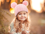 Kids Knit Beanie Hat Pom Pom Toddler Winter Hat