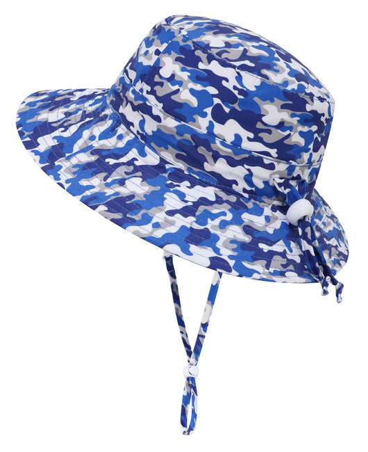 Baby UPF 50+ Adjustable Drawstring Wide Brim Bucket Sun Hat