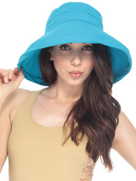 Cotton Summer Bucket Hat w/ Brim