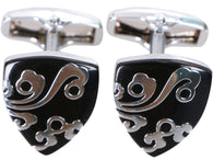 Men's Classic Ornate Cufflinks, Swirls