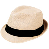 Men/Women Summer Short Brim Straw Fedora