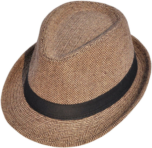 Manhattan Structured Gangster Trilby Fedora Hat