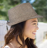 Men's and Women's Teardrop Crown Felt Fedora Derby Hat