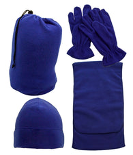 Fleece Hat, Scarf, & Gloves Set