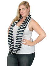 Striped Knit Infinity Scarf