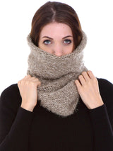 Winter Knit Infinity Scarf, Beige