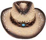 Kid's Costume Party Cowboy Straw Hat with Decorated Headband