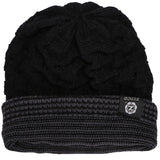 Ribbed Crochet Beanie, Black