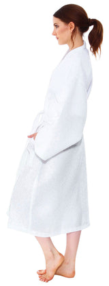 White Waffle Spa Robe Unisex Cotton Robe