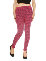 Women's Colored Chevron Print Texturized Leggings