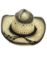 Ombre Cut-Out Cowboy Hat