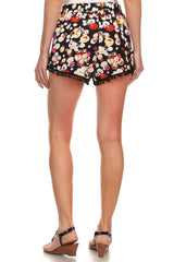 Summer Shorts with Pompoms, Fuschia Lights