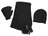 Knitted Hat, Scarf, & Gloves Set