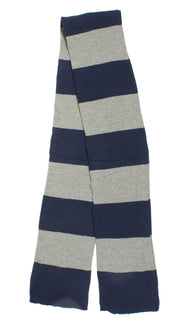 Warm Winter Long Acrylic Bold Striped Scarf