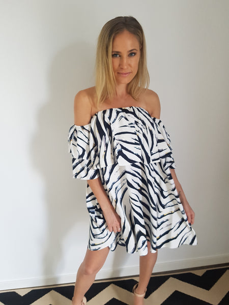 Wild at Heart Off the Shoulder Mini Dress