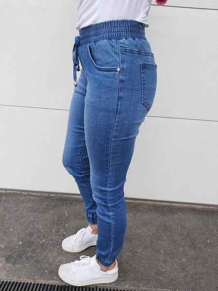 Milla Joggers - Denim Blue
