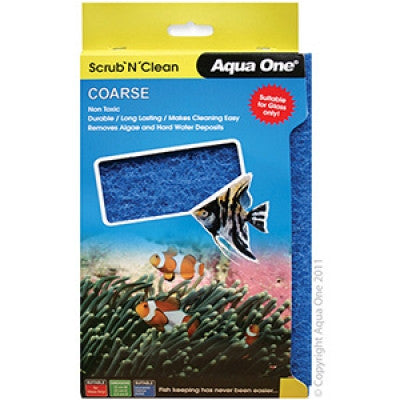 Aqua One Scrub n Clean Pad Coarse Large (Glass Only)