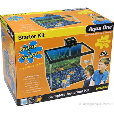 Aqua One Splish & Splash Starter Kit Medium 21L Glass (Pick Up Only)