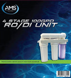 AMS 4 Stage RO/DI Unit Deluxe - 100GPD with Dual TDS Meter