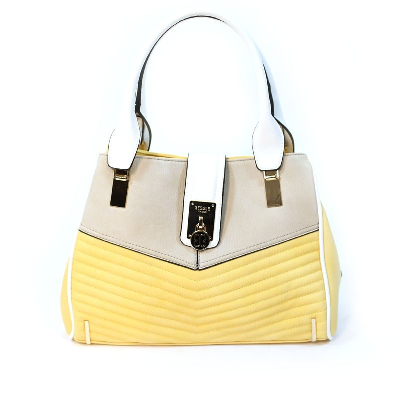 Bessie London Yellow structured handbag